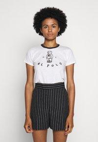Polo Ralph Lauren - BEAR SHORT SLEEVE - Print T-shirt - nevis - 0