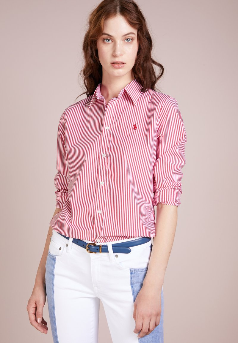 Polo Ralph Lauren - STRETCH SLIM FIT - Koszula - red/white