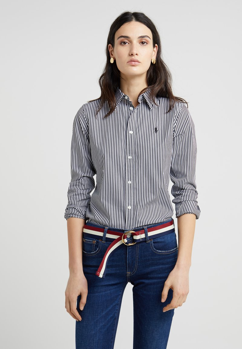 Polo Ralph Lauren - STRETCH SLIM FIT - Koszula - black/white