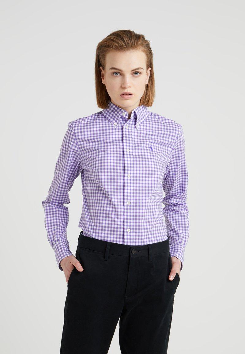 Polo Ralph Lauren - GINGHAM SLIM FIT - Camicia - purple/white