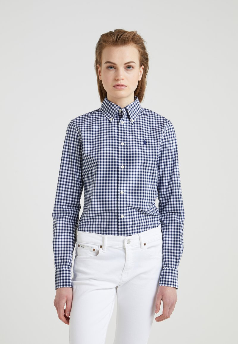 Polo Ralph Lauren - GINGHAM SLIM FIT - Camicia - navy/white
