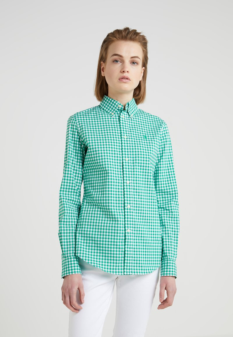 Polo Ralph Lauren - GINGHAM SLIM FIT - Camicia - green/white