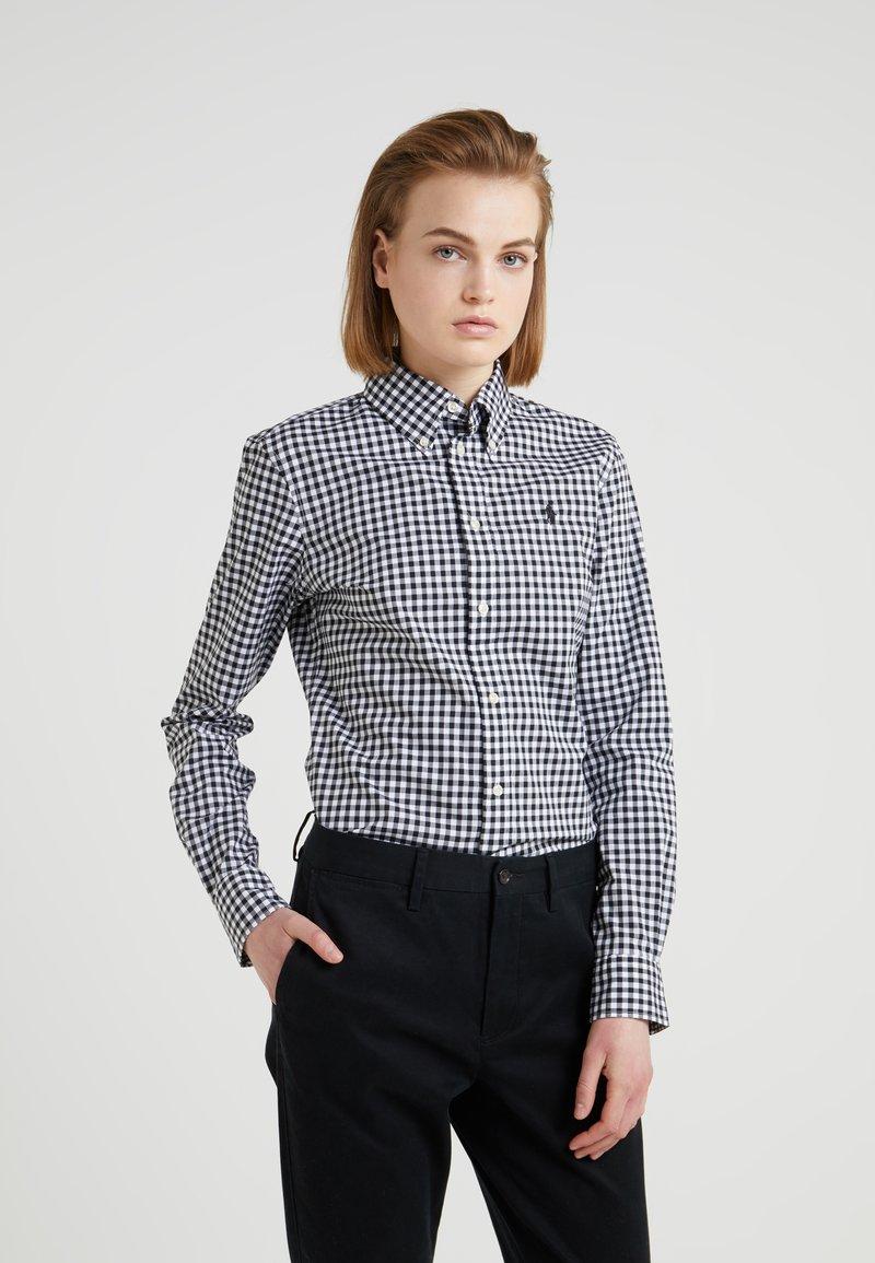 Polo Ralph Lauren - GINGHAM SLIM FIT - Camisa - black/white