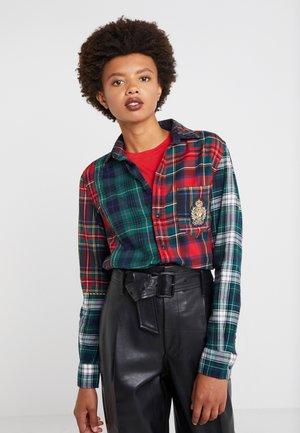 Button-down blouse - patchwork