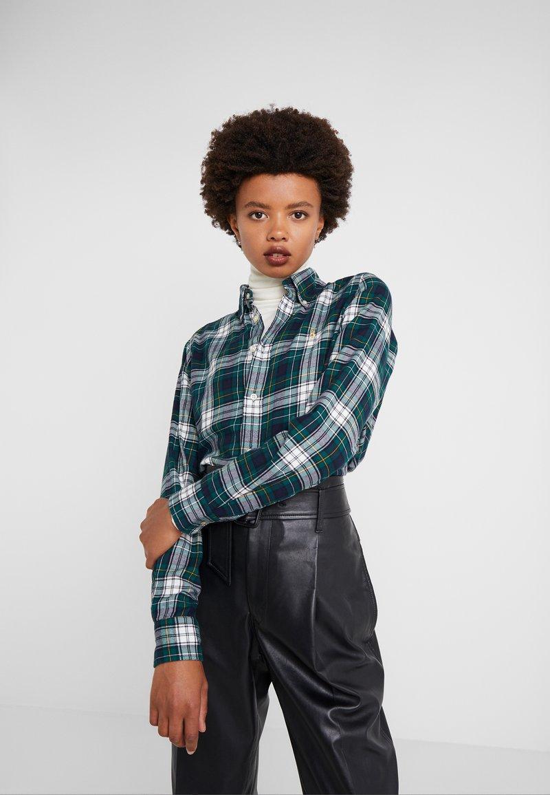 Polo Ralph Lauren - TWILL PLAID - Button-down blouse -  hunter green