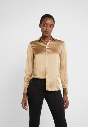 CHARMEUSE - Button-down blouse - montana khaki