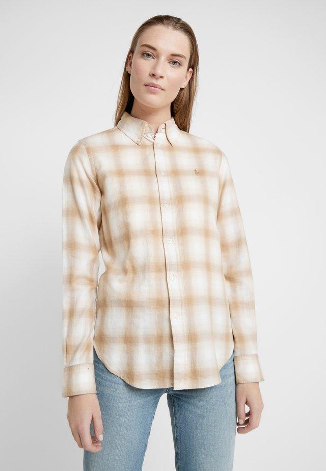 GEORGIA CLASSIC - Button-down blouse - cream/sand