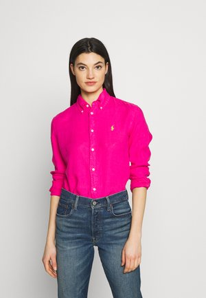 RELAXED LONG SLEEVE - Button-down blouse - accent pink