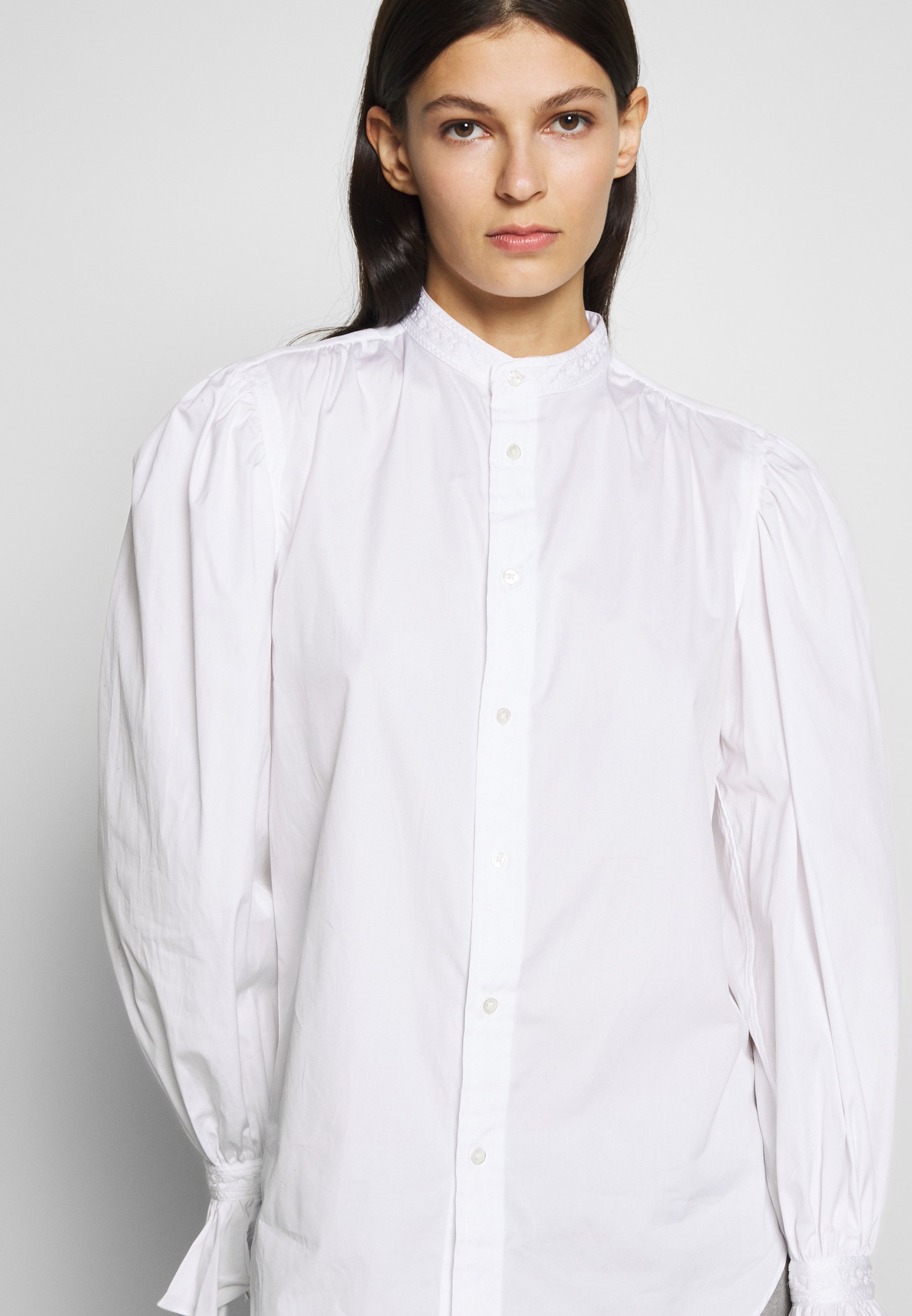Polo Ralph Lauren GRECHN LONG SLEEVE - Button-down blouse - white