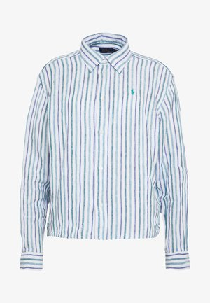 STRIPE - Camicia - blue green