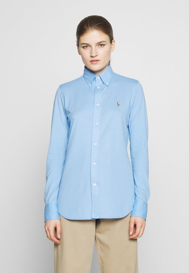 HEIDI LONG SLEEVE - Button-down blouse - blue lagoon