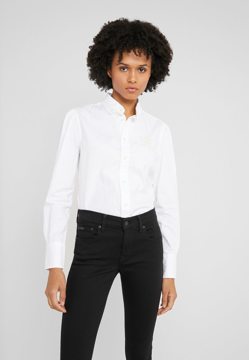 Polo Ralph Lauren - BRIA LONG SLEEVE - Button-down blouse - white