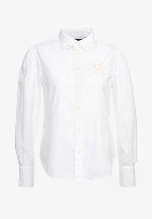 BRIA LONG SLEEVE - Button-down blouse - white