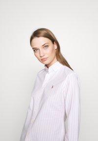 Polo Ralph Lauren - KENDAL - Camisa - white/pink - 3