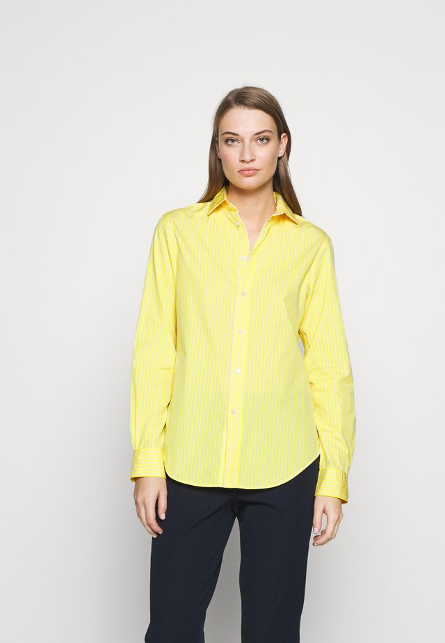GEORGIA LONG SLEEVE SHIRT - Button-down blouse - yellow/white