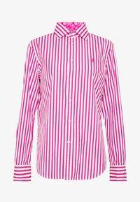 Polo Ralph Lauren - GEORGIA LONG SLEEVE SHIRT - Hemdbluse - pink/white - 4