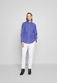 Polo Ralph Lauren - GEORGIA LONG SLEEVE SHIRT - Camicia - blue/white - 1