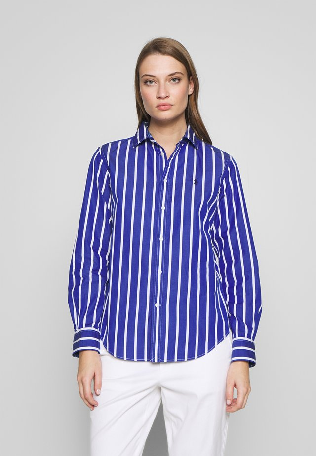 GEORGIA LONG SLEEVE SHIRT - Button-down blouse - blue/white