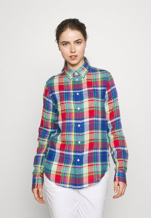 GEORGIA CLASSIC LONG SLEEVE - Blouse - blue/red