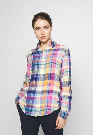 GEORGIA CLASSIC LONG SLEEVE - Blusa - blue/multi
