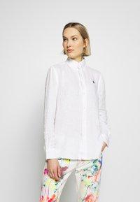 Polo Ralph Lauren - RELAXED LONG SLEEVE - Košile - white - 0