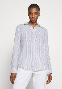Polo Ralph Lauren - RELAXED LONG SLEEVE - Košile - white/black - 0