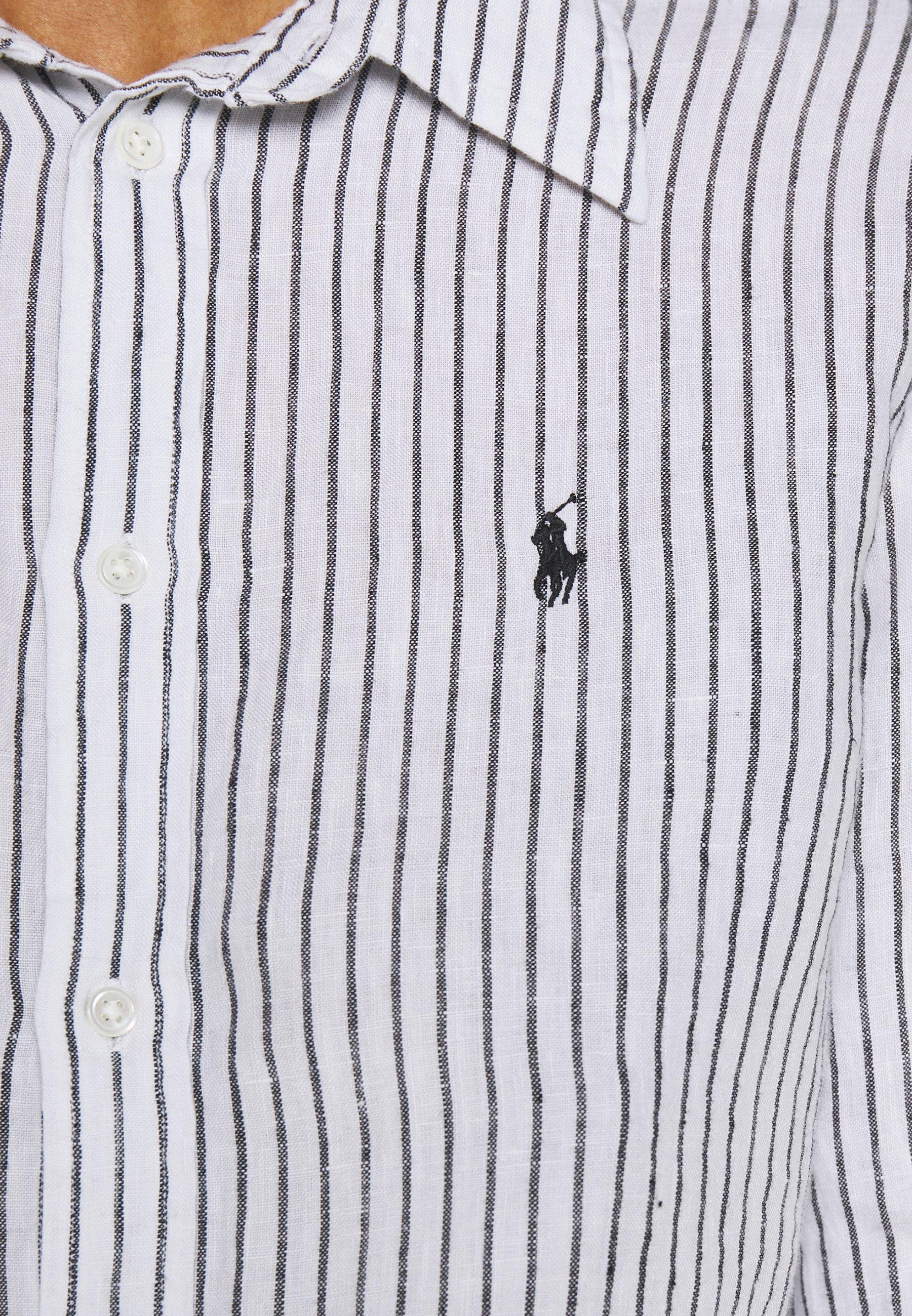 Polo Ralph Lauren RELAXED LONG SLEEVE - Button-down blouse - white/black Jez3B
