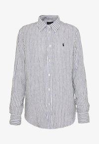 Polo Ralph Lauren - RELAXED LONG SLEEVE - Košile - white/black - 4