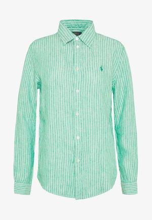 RELAXED LONG SLEEVE - Skjorte - green/white