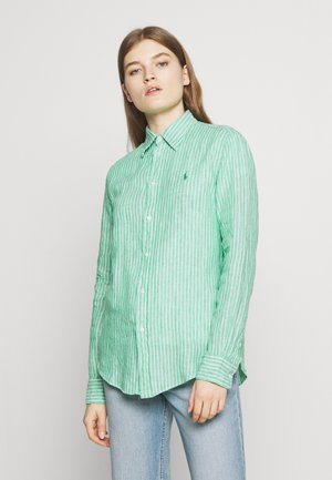RELAXED LONG SLEEVE - Košile - green/white