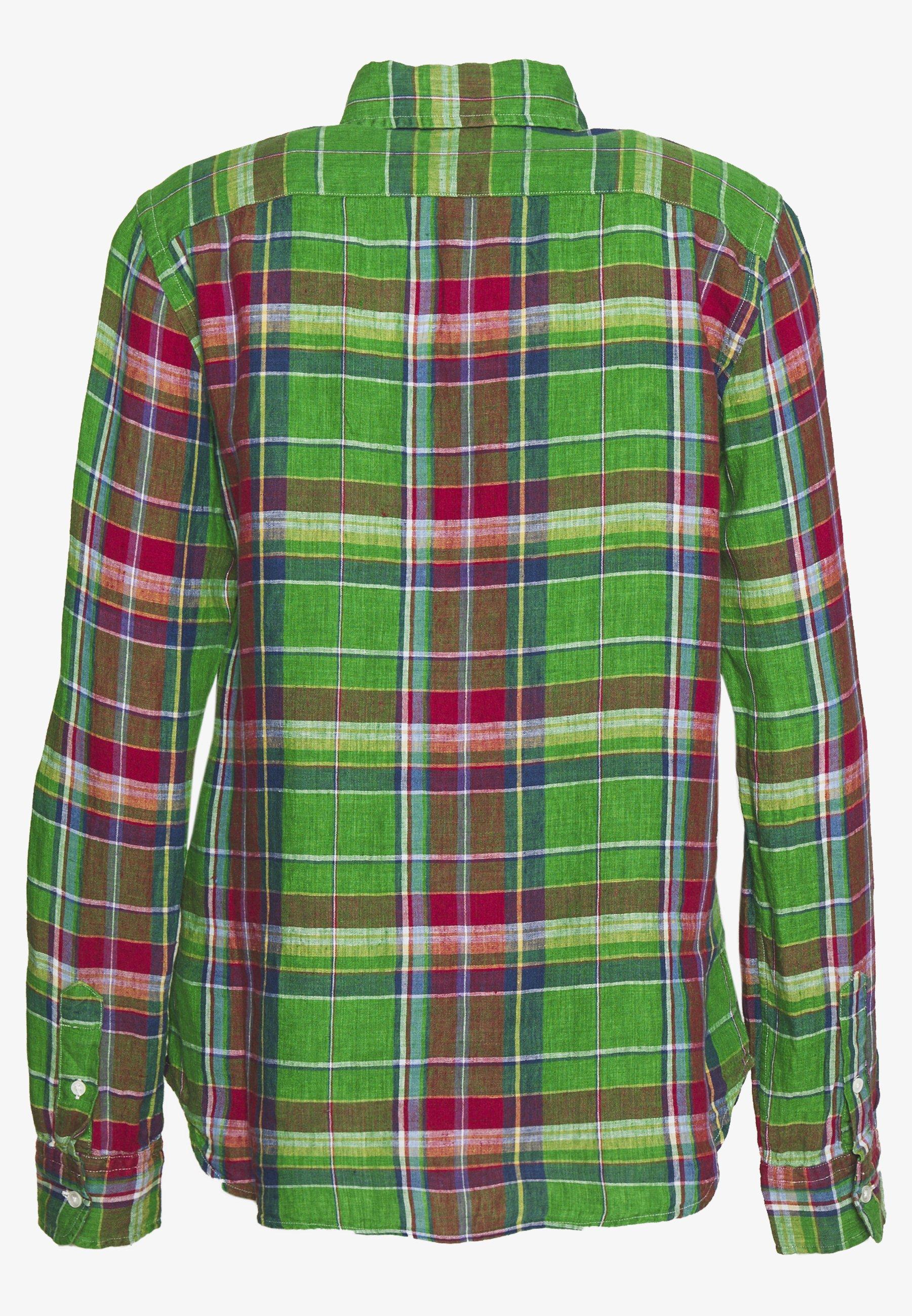 Polo Ralph Lauren Georgia Classic Long Sleeve - Camicia Green/orange ItPzSSp
