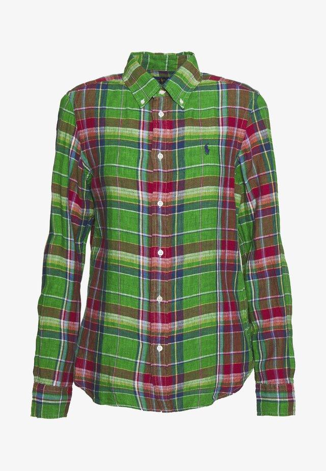 GEORGIA CLASSIC LONG SLEEVE - Button-down blouse - green/orange