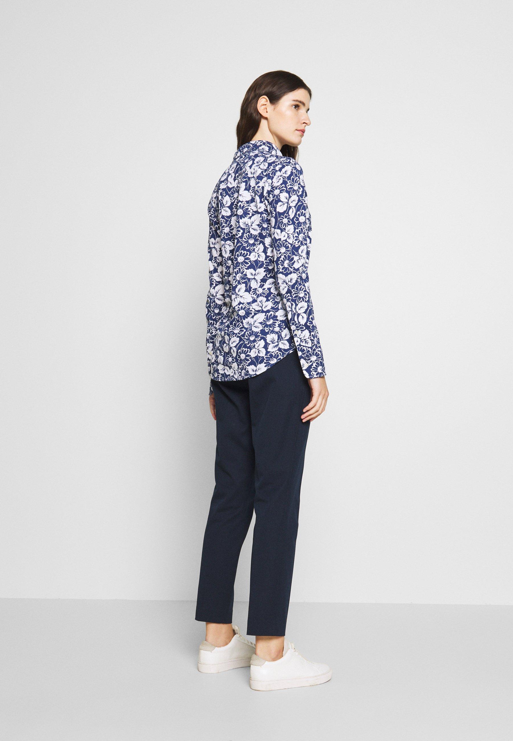 Polo Ralph Lauren HEIDI LONG SLEEVE - Bluzka - blue/ white