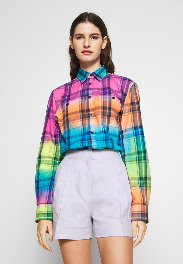 RELAXED LONG SLEEVE SHIRT - Button-down blouse - multicolor