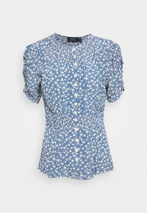 SHORT SLEEVE - Bluser - blue/white