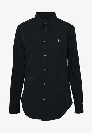 GEORGIA - Button-down blouse - black