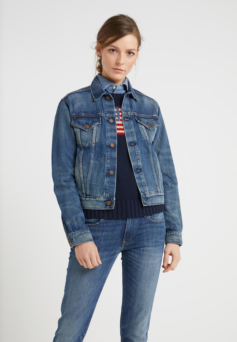Polo Ralph Lauren - EVE WASH - Giacca di jeans - dark indigo