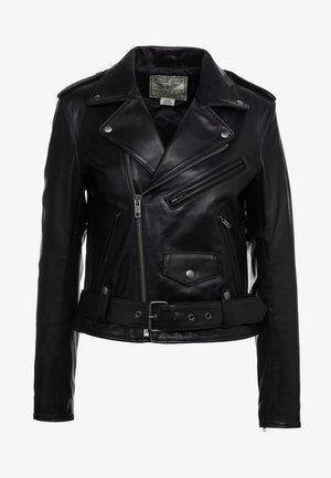 MOTO - Leren jas - black