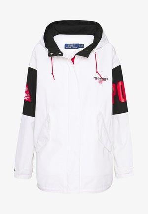 PLAIN WEAVE - Short coat - white/black