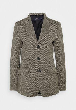 Krátký kabát - black/cream