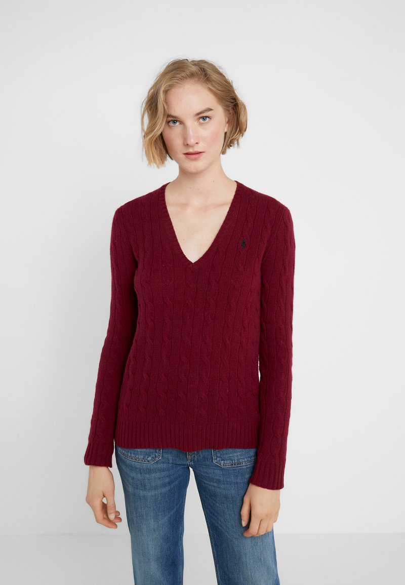 Polo Ralph Lauren - KIMBERLY  - Strickpullover - burgundy