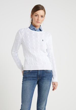 JULIANNA CLASSIC LONG SLEEVE - Sweter - white