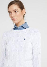 Polo Ralph Lauren - JULIANNA CLASSIC LONG SLEEVE - Maglione - white - 3
