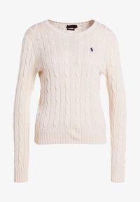 Polo Ralph Lauren - JULIANNA CLASSIC LONG SLEEVE - Maglione - cream - 4