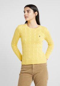 Polo Ralph Lauren - JULIANNA CLASSIC LONG SLEEVE - Jumper - trainer yellow - 2