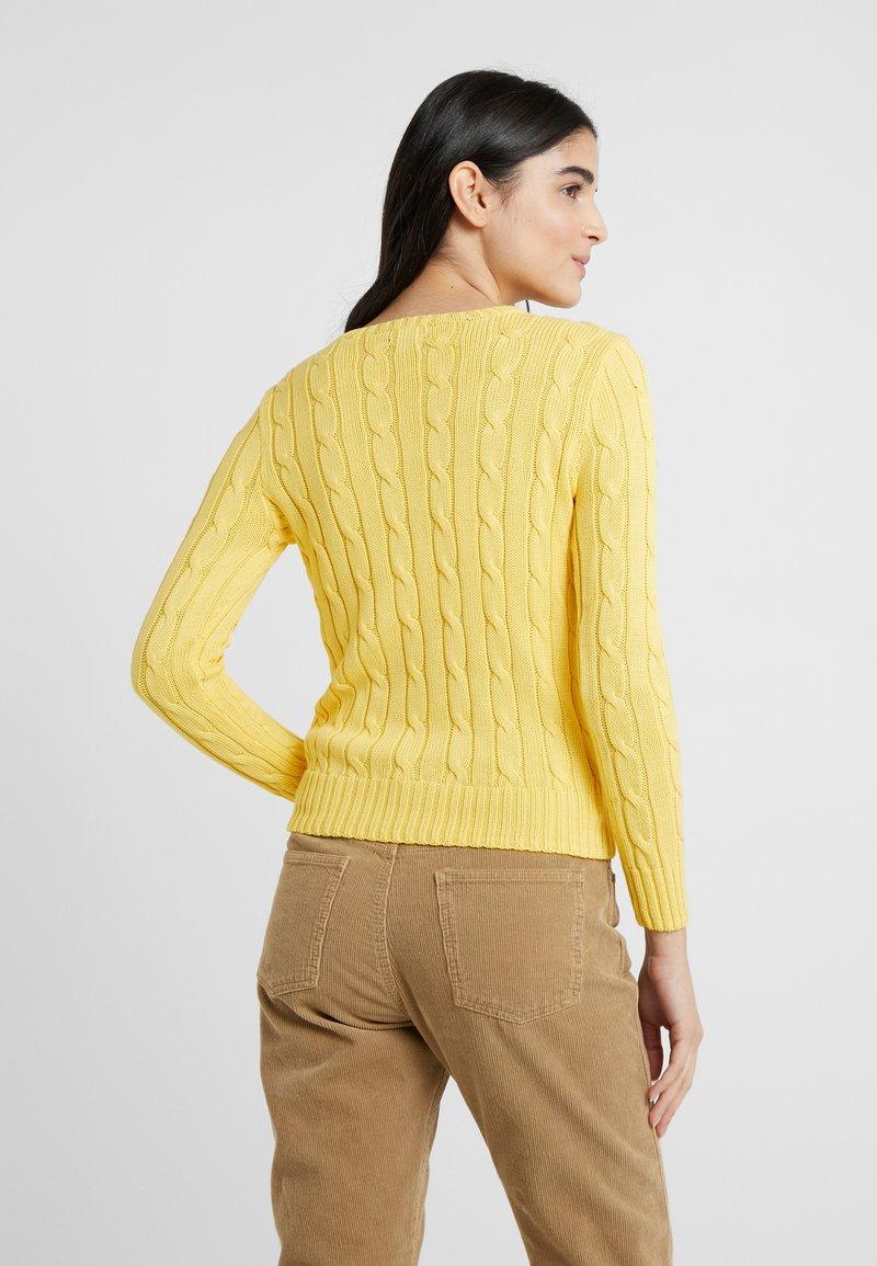 Polo Ralph Lauren - JULIANNA CLASSIC LONG SLEEVE - Jumper - trainer yellow