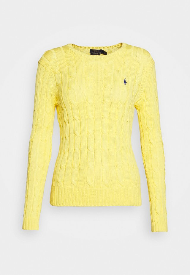JULIANNA CLASSIC LONG SLEEVE - Sweter - lemon