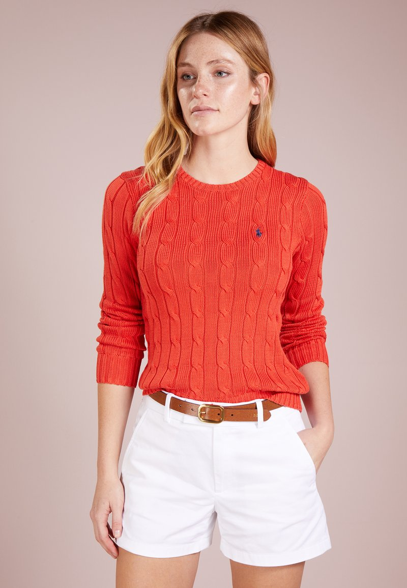 Polo Ralph Lauren - JULIANNA CLASSIC LONG SLEEVE - Maglione - tomato