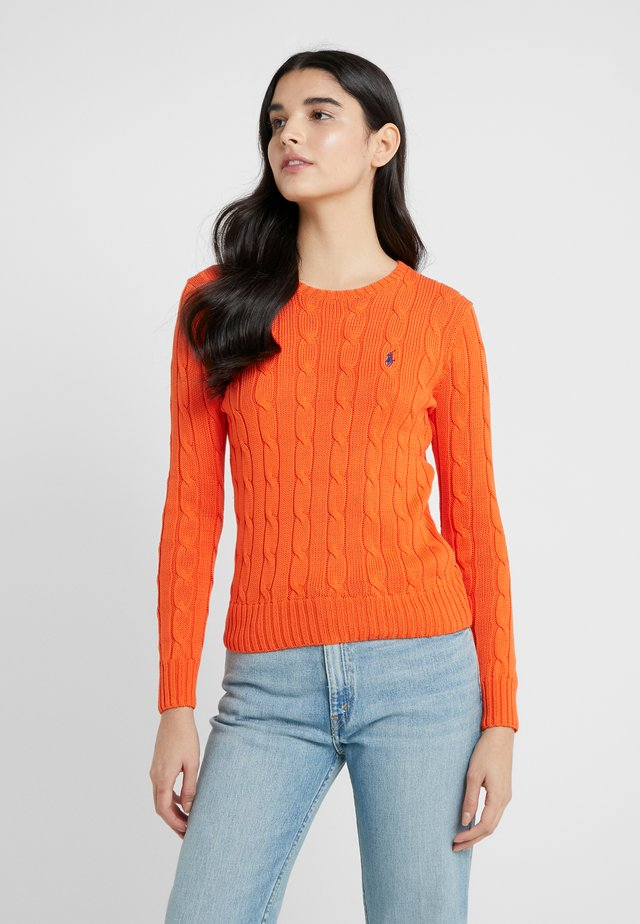 JULIANNA CLASSIC LONG SLEEVE - Stickad tröja - tie orange