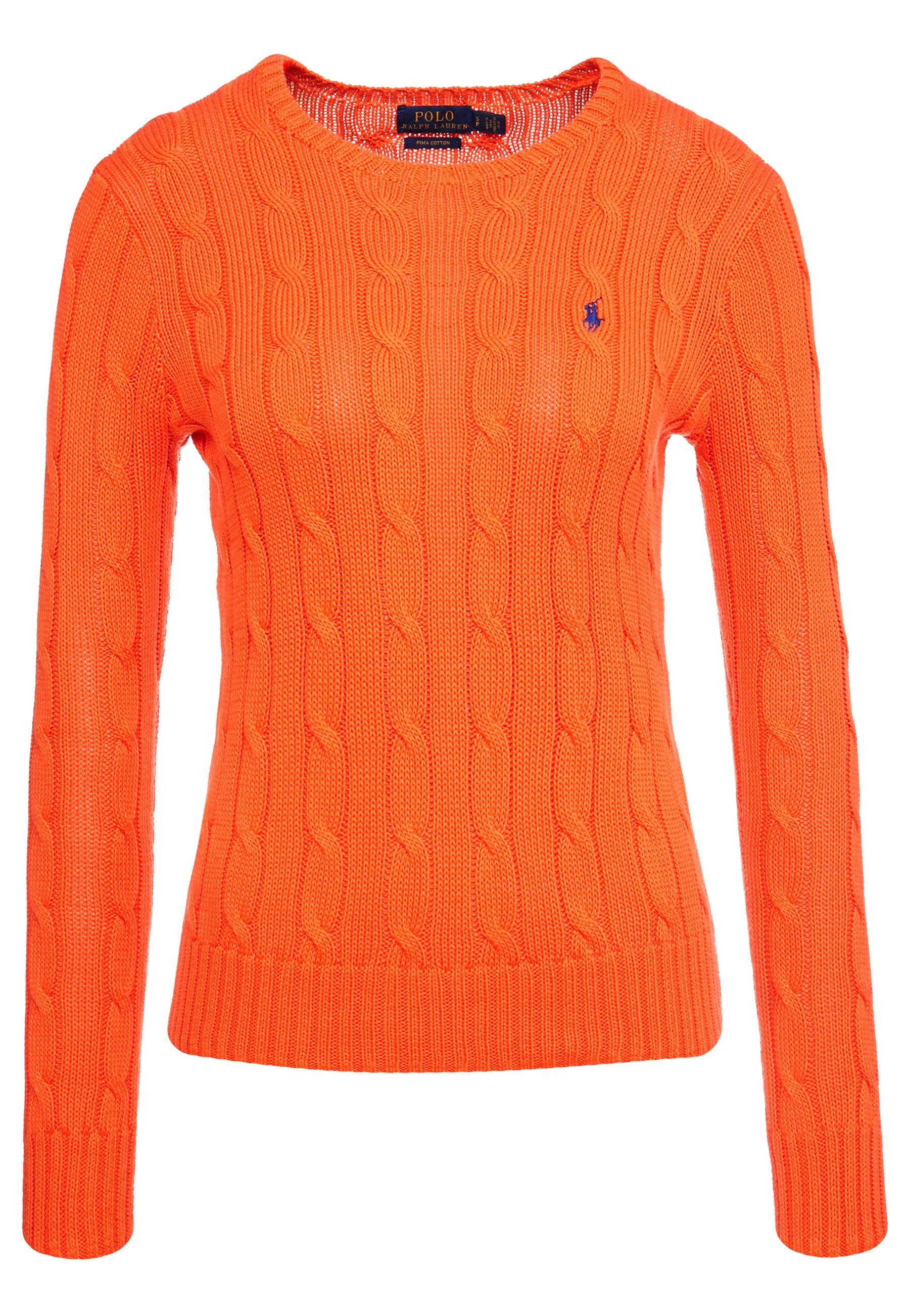 Polo Ralph Lauren Julianna Classic Long Sleeve - Jumper Tie Orange